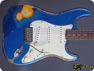 Fender Custom Shop 1960 Stratocaster Masterbuilt John English 2005 Lake Placid Blue Over Sunburst