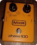 Mxr Phase 100 1978 Orange Blok Logo