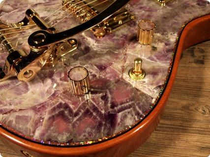 Zerberus Guitars Chronos 2017 Amethyst Gemstone Top