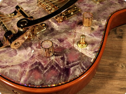 Zerberus Guitars Chronos 2017 Amethyst Gemstone Top