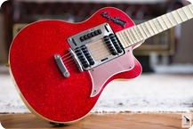 Hagstrom P46 Deluxe 1962 Red Sparkle