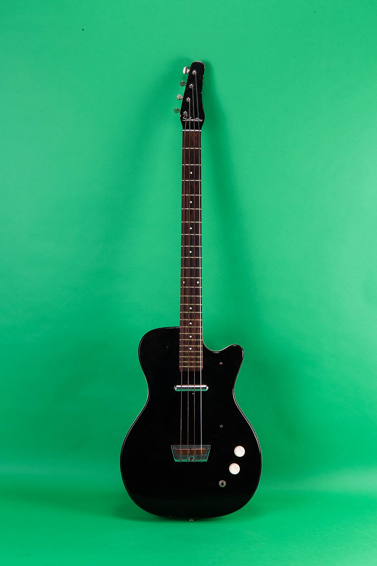 danelectro silvertone bass 1963 black bass for sale jay rosen music. Black Bedroom Furniture Sets. Home Design Ideas