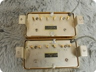 Gibson PAF Patent Applied For Pair DOUBLE WHITE Bobbins 1959 Gold