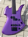 B.C Rich Mockingbird Fretless Bass 1985 Deep Purple Metallic