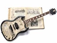 Veranda Guitars 1880 Duesseldorf 2017 News Paper Collage