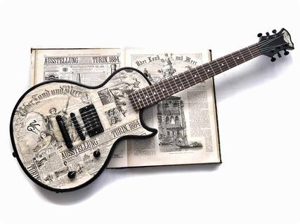 Veranda Guitars 1884 Turin 2017 News Paper Collage