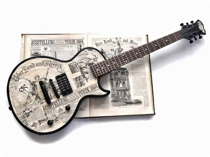 Veranda Guitars 1884 Turin 2017 News Paper Collage