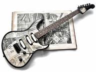 Veranda Guitars 1888 Paris 2017 News Paper Collage