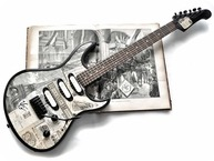 Veranda Guitars 1888 Paris 2017 News Paper Collage