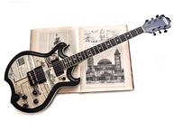 Veranda Guitars 1896 Berlin 2017 News Paper Collage