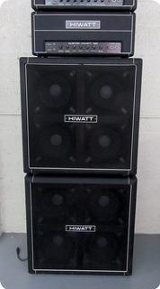 """Hiwatt  """"full Stack"""" Custom 100w Head W/2 Se4123f 4x12"""" Cabinets 1980"""