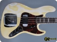 Fender Jazz Bass 1966 Olympic White Match. Headstock