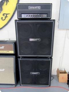 "Hiwatt ""full Stack"" Custom 50w Dr504 Head W/2 4x12"" Se4123 Cabinets 1980"