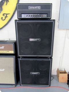 "Hiwatt ""full Stack"" Custom 50w Dr504 Head W/2 4x12"" Se4123 Cabinets 1980"