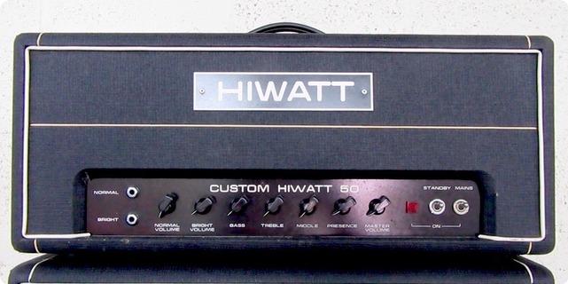 Hiwatt Custom 50w Dr504 Head 1980