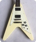 Gibson Flying V With Ebony Board 2007 Vintage White