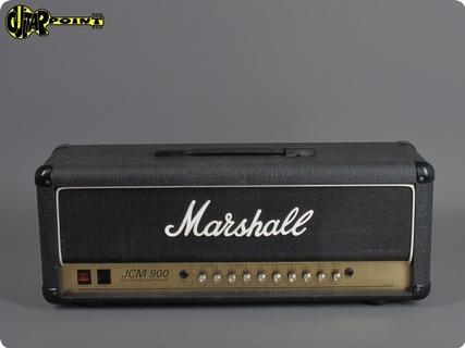 Marshall Jcm900 50 Watt Higain Dual Reverb   4500 1991 Black Levant