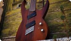 MC Guitars MC 72 Multiscale 7 Stringer 2016 Natural Walnut