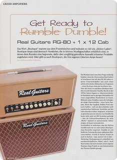Real Guitars Rg 80 2018 Brown Tolex