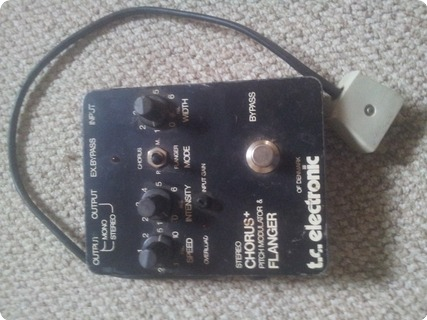 T.c. Electronic Chorus/ Flanger 1989 Black