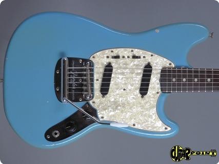 fender mustang 1966 daphne blue guitar for sale guitarpoint. Black Bedroom Furniture Sets. Home Design Ideas