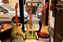 Fender Tele Stratocaster 2010 Surf Green Daphne Blue Sunburst