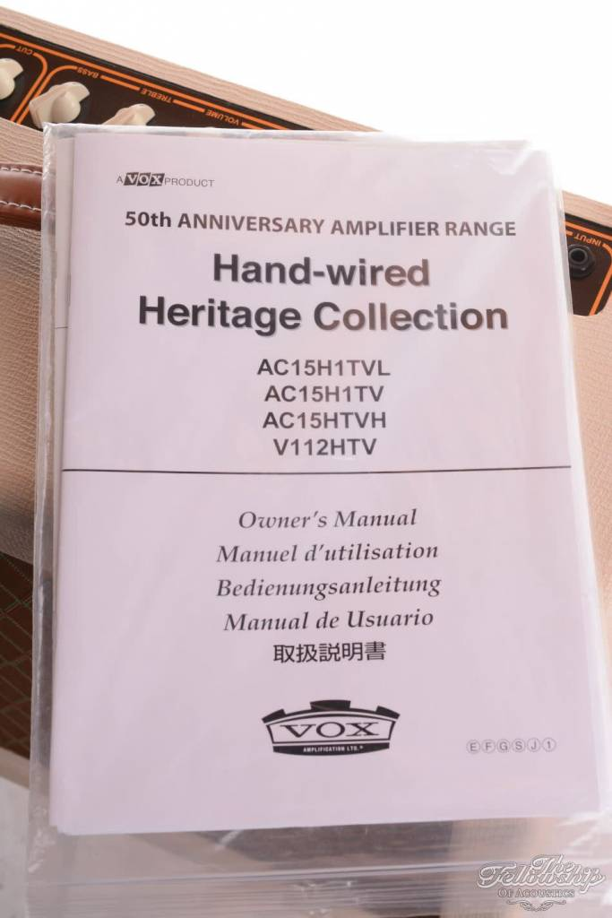 Vox AC15H1TV 50th Hand Wired Heritage Collection 2008 Amp For Sale ...