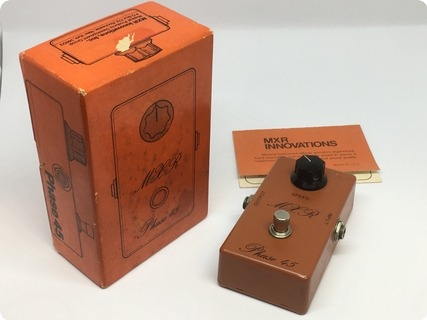 Mxr Phase 45 Vintage Script Logo Bud Box  1975 Orange