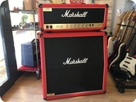 Marshall Jcm 800 2203 With 4x12 G12 T 75 Marshall Case 1995 Red