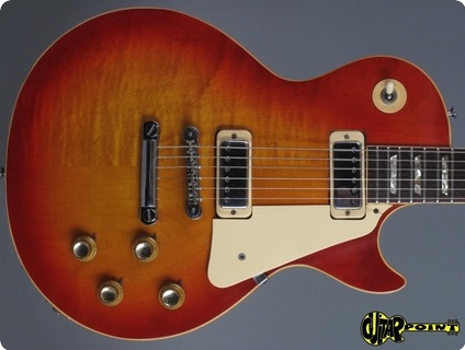 Gibson Les Paul Deluxe   2 Piece Top ! 1974 Cherry Sunburst   Flamed Maple