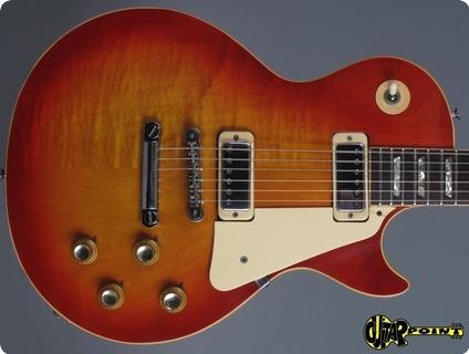Gibson Les Paul Deluxe   2 Piece Top ! 1974 Cherry Sunburst   Flamed Maple