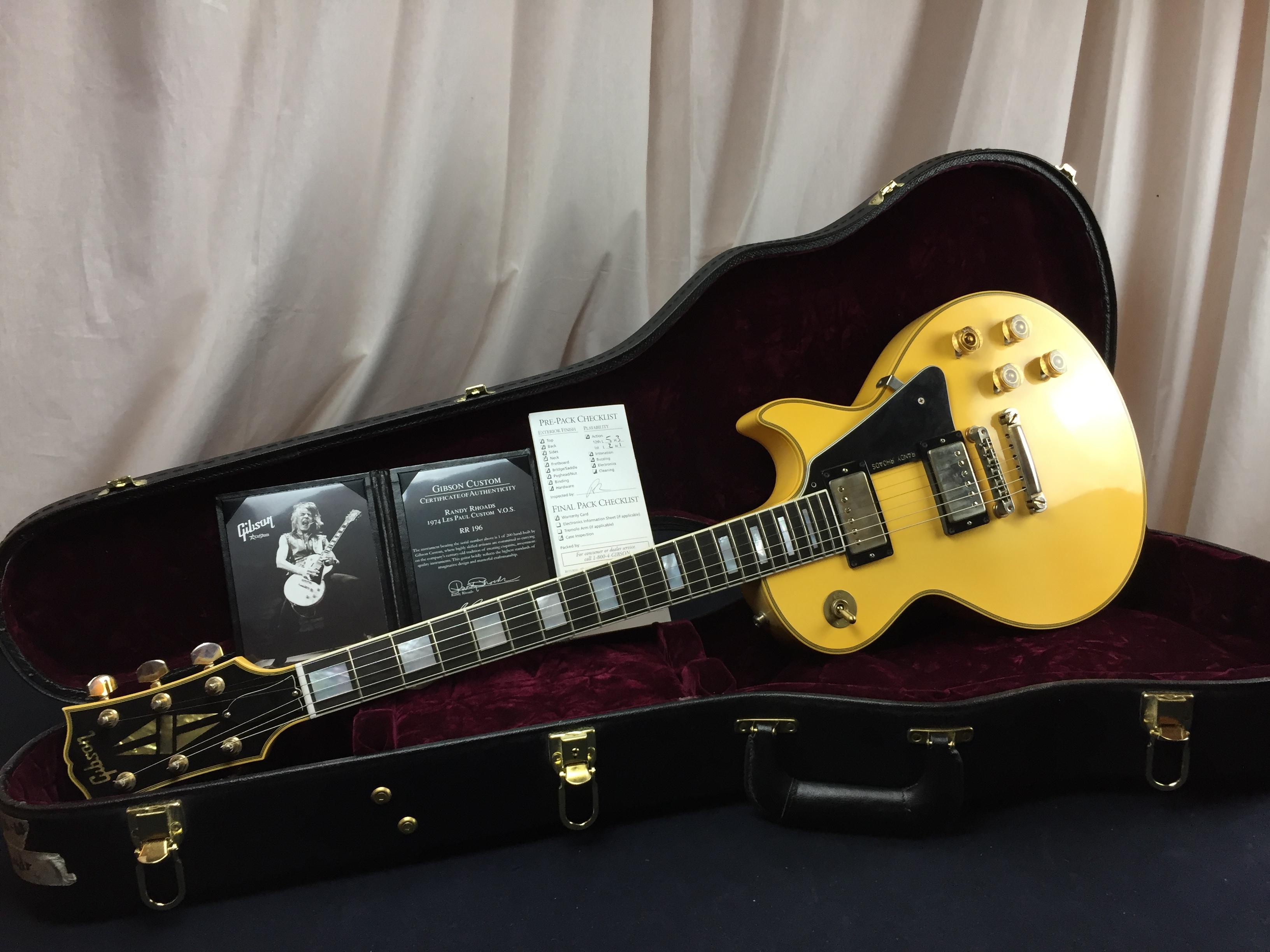 "Gibson / Randy Rhoads Les Paul Custom / 2010 / Aged Nitrocellulose ""Randy  Rhoads White"" / Guitar"