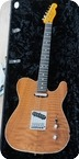Fender Custom Shop Telecaster Quilted Redwood 2014 Natural Satin Finish