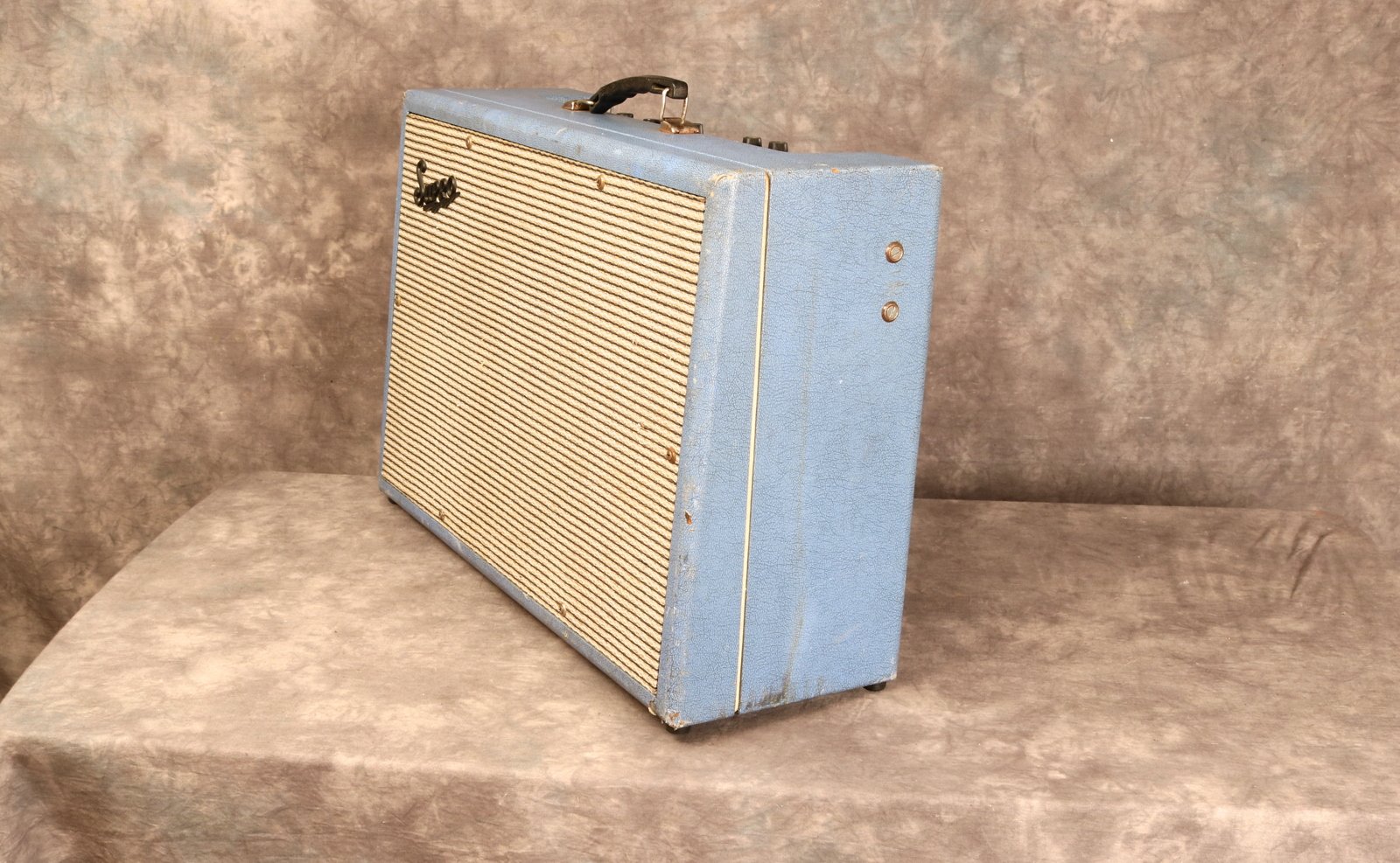 Supro Model 24 1964 Blue Tolex Amp For Sale Andy Baxter Bass