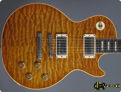 Gibson Les Paul Standard   59 Quil Top Reissue 1983 Amber