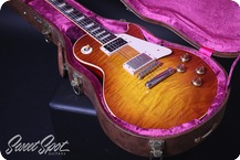 Gibson Custom Shop Les Paul Standard 1958 Historic Reissue Flametop 2014 Dark Cherry Sunburst