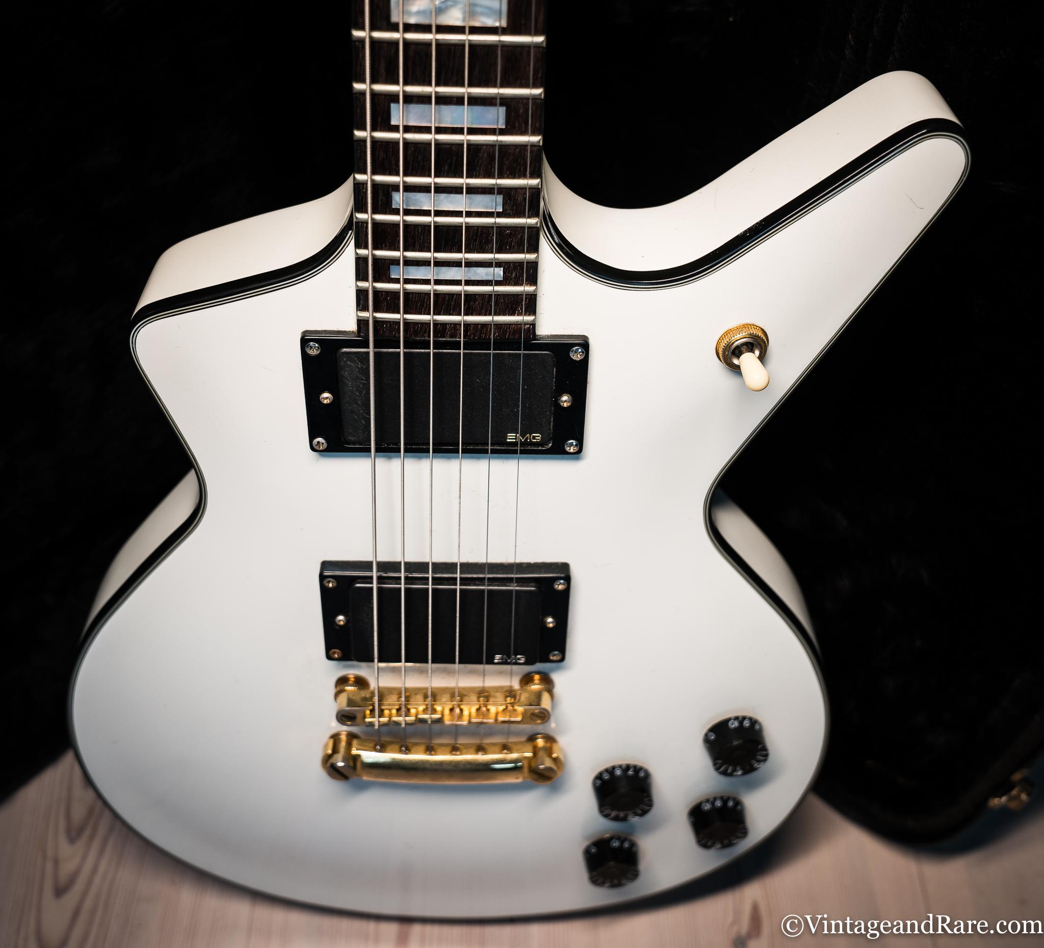 Dean Guitars Cadillac 2000's White Guitar For Sale The