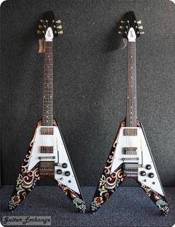 Gibson Jimi Hendrix Pschedelic Flying V. 2006