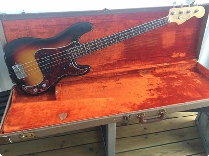 Fender Precision Bass 1962 3 Tone Sunburst