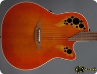 Ovation USA Elite Standard Model 6768 1994 Orange Cherry Burst
