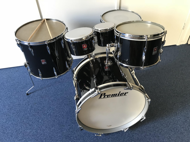 Drums For Sale >> Premier Drums Premier 202 1960 Piano Black Drum For Sale Purple Chord
