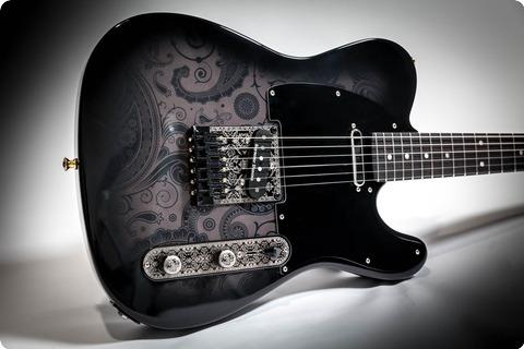 Mithans Guitars Ink 2018 Black Paisley