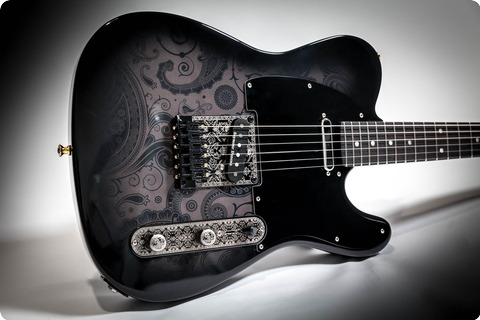 Mithans Guitars Ink 2018 Black Paisley