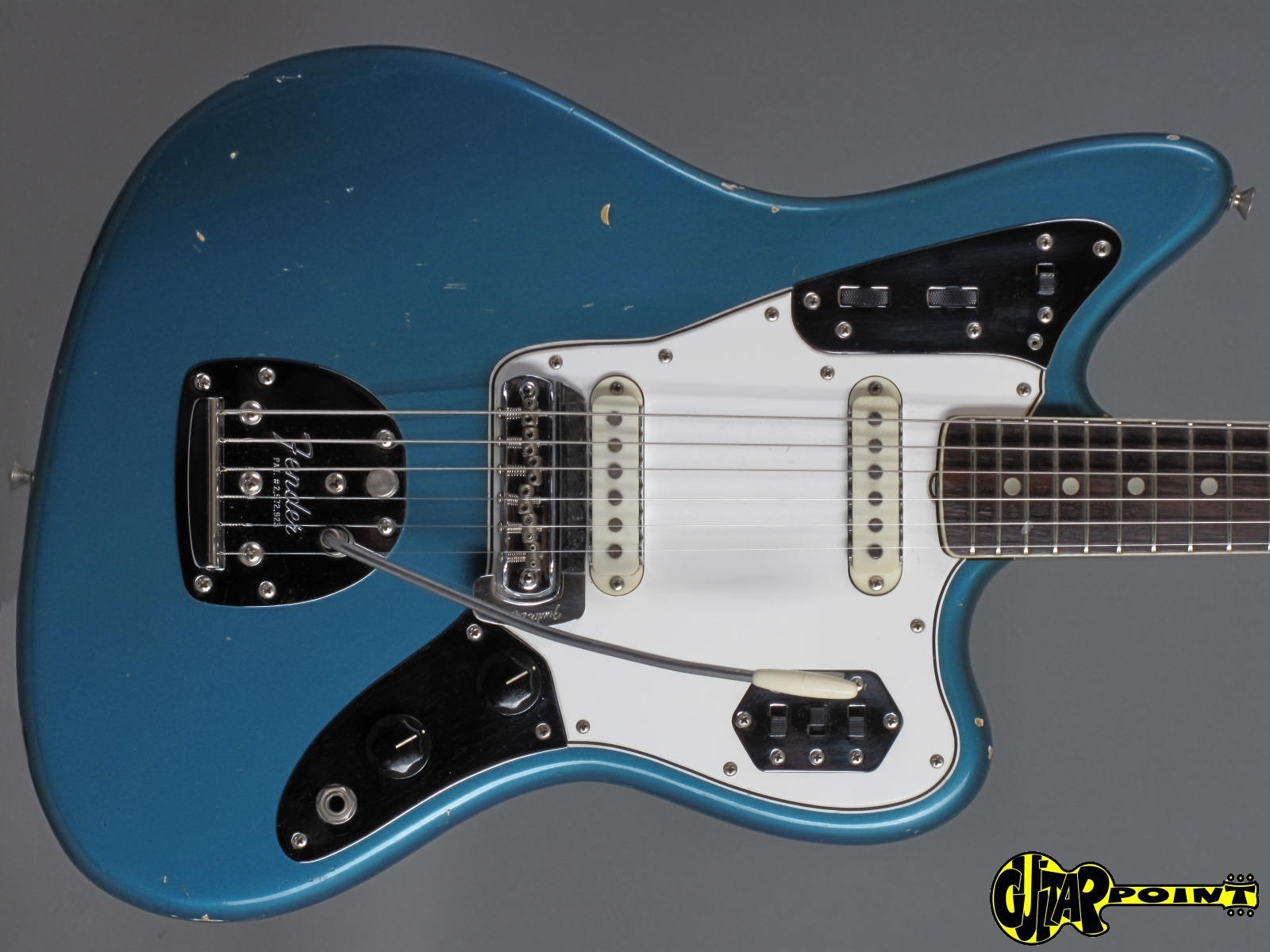 wohsc jaguar charcoal usa electric vintage guitars product fender frost imperial guitar