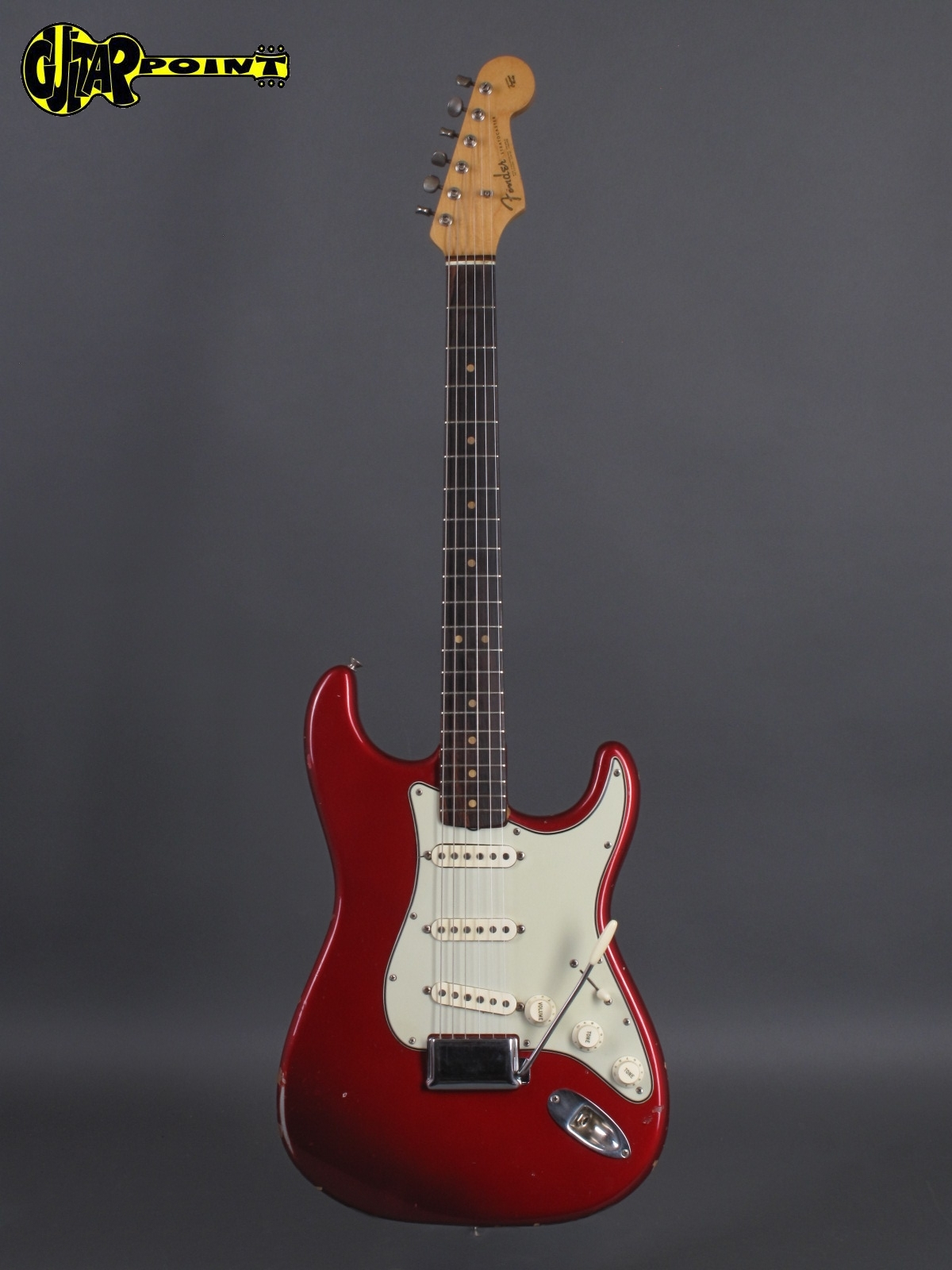 fender stratocaster 1963 candy apple red guitar for sale guitarpoint. Black Bedroom Furniture Sets. Home Design Ideas