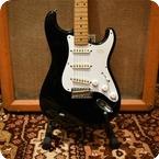 Fender Vintage 1983 Fender JV Squier Stratocaster 57 Reissue Black Stratocaster