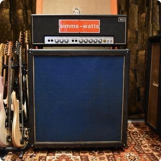 Simms Watts Vintage 1970s Simms Watts Ap100 100w 4x12 Amplifier Cabinet
