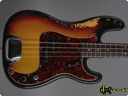 Fender Precision / P Bass 1972 3 Tone Sunburst