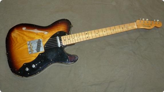 Fender Custom Shop Relic Thinline Telecaster 2009 Sunburst