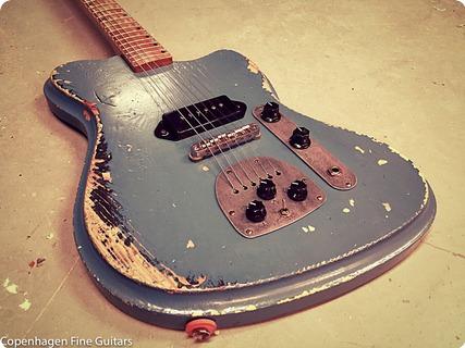 Vuorensaku Guitars T Junior Supacruiser Aged Gulf Blue
